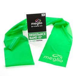Meglio Latex Free Exercise Bands 7ft. Perfect for Physical Therapy, Strength Training Workouts,  ...
