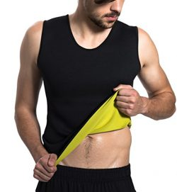 Roseate Men's Body Shaper Hot Sweat Workout Tank Top Slimming Neoprene Vest for Weight Los ...