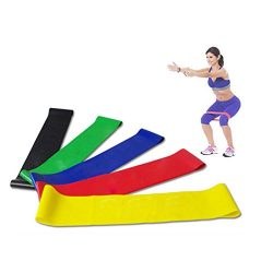 UMFun Resistance Band Loop Yoga Pilates Home GYM Fitness Exercise Workout Training Tool (A)