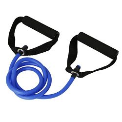 Latex Elastic Resistance Band Pilates Tube Rope Gym Yoga Fitness Equipment (Blue)