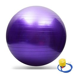 Exercise Ball for Premium Fitness, Stability, Balance & Yoga Roller Multicolor Gym High Dens ...
