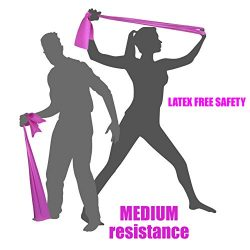 MEDIUM TENSION EXERCISE RESISTANCE BANDS – Home Gym Fitness Equipment. Ideal for Physical  ...