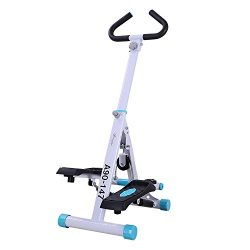Soozier Adjustable Twist Stepper AB Body Workout Machine Aerobic Fitness Exercise w/Handle Bar a ...