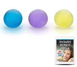 321 STRONG Hand Therapy Grip Balls for Stress, Fidget Toys, Arthritis Relief for Kids and Adults