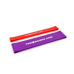 The x Bands Exercise Resistance Bands – Fitness Workout by Set of 2 Loop Booty Bands of 30 ...