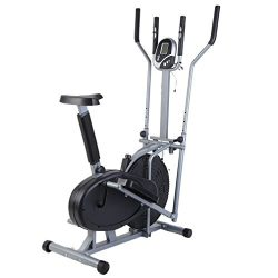 Homgrace Home Elliptical Bike 2 In 1 Cross Workout Trainer Exercise Fitness Machine Upgraded Sta ...