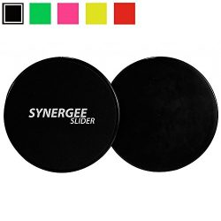 Synergee Jet Black Gliding Discs Core Sliders. Dual Sided Use on Carpet or Hardwood Floors. Abdo ...