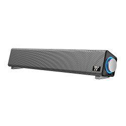 TaoTronics Computer Speakers, Wired Computer Sound Bar, Stereo USB Powered Mini Soundbar Speaker ...