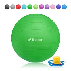 Exercise Ball, Yoga Ball, Birthing Ball with Quick Pump, Anti-Burst & Extra Thick, Heavy Dut ...