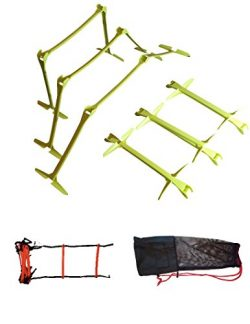 Soccer Training Equipment For Practice 6 Training Hurdles Adjustable To 3 Heights With Athletic  ...
