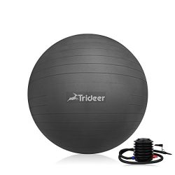 Trideer Exercise Ball (45-85cm) Yoga Ball Chair, Anti-Burst & Extra Thick, Birthing Ball wit ...