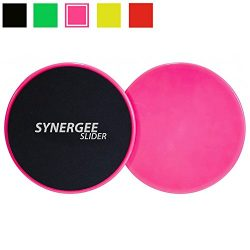 iheartsynergee Power Pink Core Sliders. Dual Sided Use on Carpet or Hardwood Floors. Abdominal E ...