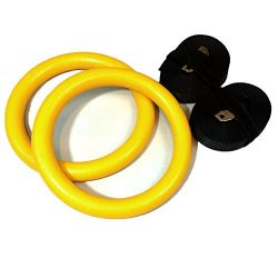 Gymnastic Rings Great for Cross Fit, Pilates, Strength & Core Training Exercise Rings Equipment
