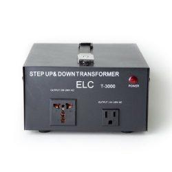 ELC T-3000 3000-Watt Voltage Converter Transformer – Step Up/Down – 110V/220V – ...