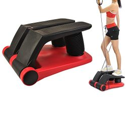 Air Stepper Climber Aerobic Exercise Step Equipment Thigh Machine with Resistant Cord