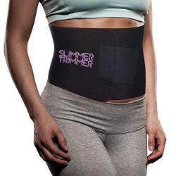 Slimmer Trimmer PREMIUM Waist Trimmer – Weight Loss Sweat Belt Waist Trainer for Women &am ...