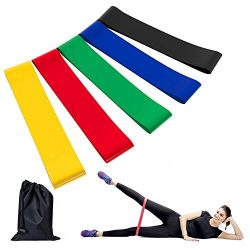 Future Exercise Resistance Loop Bands – Set of 5 Workout Bands With Handy Carry Bag Fit Si ...