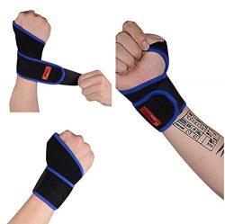 Megoday Gym Wrist Band Brace Guard (Adjustable,Single,Unisex) Professional Wrist Wrap Support St ...