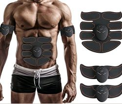 Fitount ABS Stimulator Muscle Toner, Abdominal Toning Belt EMS ABS Toner Body Muscle Trainer Wir ...