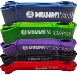 MummyStrength Resistance Bands for Men and Women. The Best Stretch Band for Pull Up Exercise and ...
