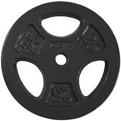 CAP Barbell Standard Grip Plate, Black, 25 lb