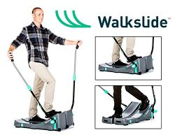 Walkslide Manual Treadmill,Elliptical & Nordic Skier in one! Includeds Booties, Compact, Por ...