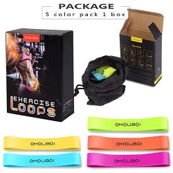 Resistance Loop Bands Set of 5 – OMOUBOI Resistance Bands Best Home Gym Fitness Exercise B ...