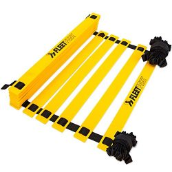 Fleetfoot Speed & Agility Training Ladder – 6, 10, 16, or 20 Rung Rope Equipment for Athleti ...