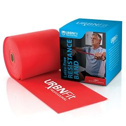 Professional Resistance Bands – 25 Yards (75ft) Latex-Free Elastic Exercise Fitness Band R ...