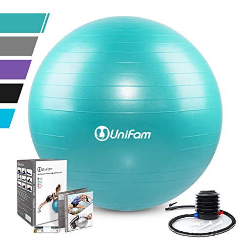 Exercise Stability Ball Chair with Hand Pump Use For CrossFit, Yoga, Balance & Core Strength ...