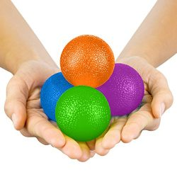 Hand Therapy Balls by Vive – Grip Strengthening Exercise Kit for Physical Therapy –  ...
