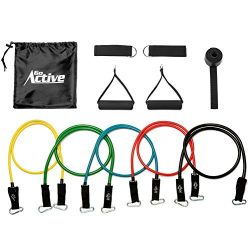 Go Active Lifestyles Resistance Bands For Legs And Butt – With Handles – Exercise Re ...
