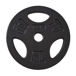 CAP Barbell Standard Grip Plate, Black, 10 lb