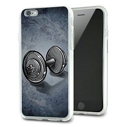 Weight Lifting Dumbbells Slim Fit Hybrid Case Fits Apple iPhone 6 6s Plus