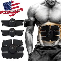 RXF Muscle Toner, Abdominal Toning Belt, EMS Abs Trainer Wireless Body Gym Workout Home Office F ...