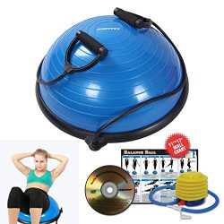 RitFit Balance Ball Trainer With Resistance Bands, Free Foot Pump, Exercise Wall Chart, Workout  ...