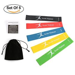 Resistance bands Exercise Bands-Workout Bands Therapy Bands-Best for Pilates, Stretching, Physic ...