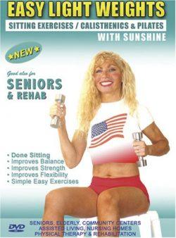 Seniors / Elderly Sitting Lightweight / Dumbbells Exercises for Strength, Rehab & Physical T ...