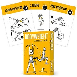 EXERCISE CARDS BODYWEIGHT – Home Gym Workout Personal Trainer Fitness Program Guide Tones  ...