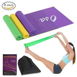 OSA Flat Exercise Band Set of 3, Flat Resistance bands, Non-Latex Elastic Bands for Physical The ...