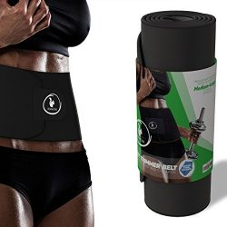 ROMANCINA Waist Trimmer Sweat Belt for Women and Men for Ab Weight Loss – Low Back and Lum ...