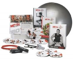 Met-Rx® 180 Workout Fitness Exercise Ball Program Complete Kit – Transforming Every Body