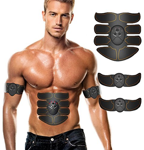 Aliex Abdominal Muscle Toner, ABS Trainer Body Fit Toning Belt, Portable Unisex Fitness Training ...