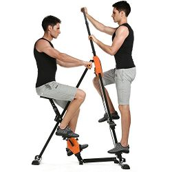 Mewalker Foldable 2 IN 1 Vertical Climber Adjustable Exercise Bike Fitness Equipment Peddler Mac ...