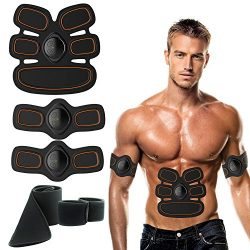 Abdominal Muscle Toner,Trlove ABS EMS Massager Muscle Trainer Gear, Electric Toning Belt Muscle  ...