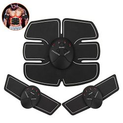 iwotou Abdominal Muscle Toner EMS ABS Body Muscle Trainer Wireless Portable Body Gem For Men Wom ...