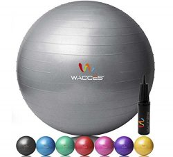 Wacces Fitness and Exercise Ball (Gray, 75 cm)