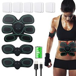 USB Rechargeable ABS Stimulator Abdominal Muscle Toner EMS Trainer Fitness Slimming Body Sculpto ...