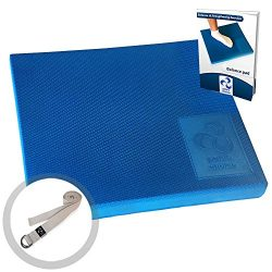 Premium Foam Balance Pad – FREE Stretching Strap & BONUS eBook |Tear & Waterproof  ...
