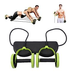 Darhoo New Sport Core Double AB Roller Wheel Fitness Abdominal Exercises Equipment Waist Slimmin ...